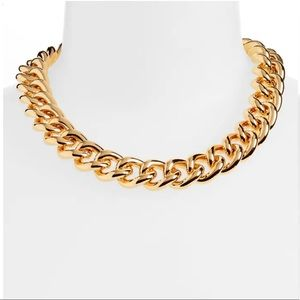 (Flaw) Lele Sadoughi Curb Chain Collar Necklace